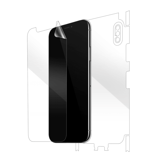reputable site b245d 62bf5 iPhone X Full body Screen Protector, Scratch Guard & Cover | Gadgetshieldz™