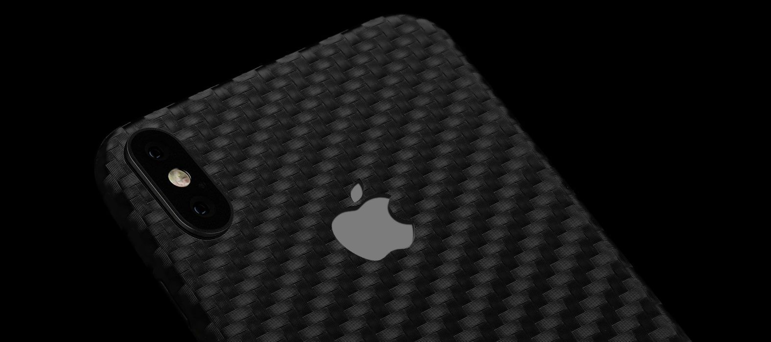 iPhone X Skins, Wraps & decals, Black Carbon Fiber