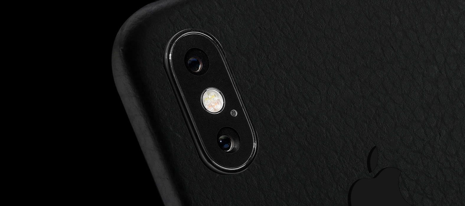 iPhone X Skins, Wraps & decals, Black Leather