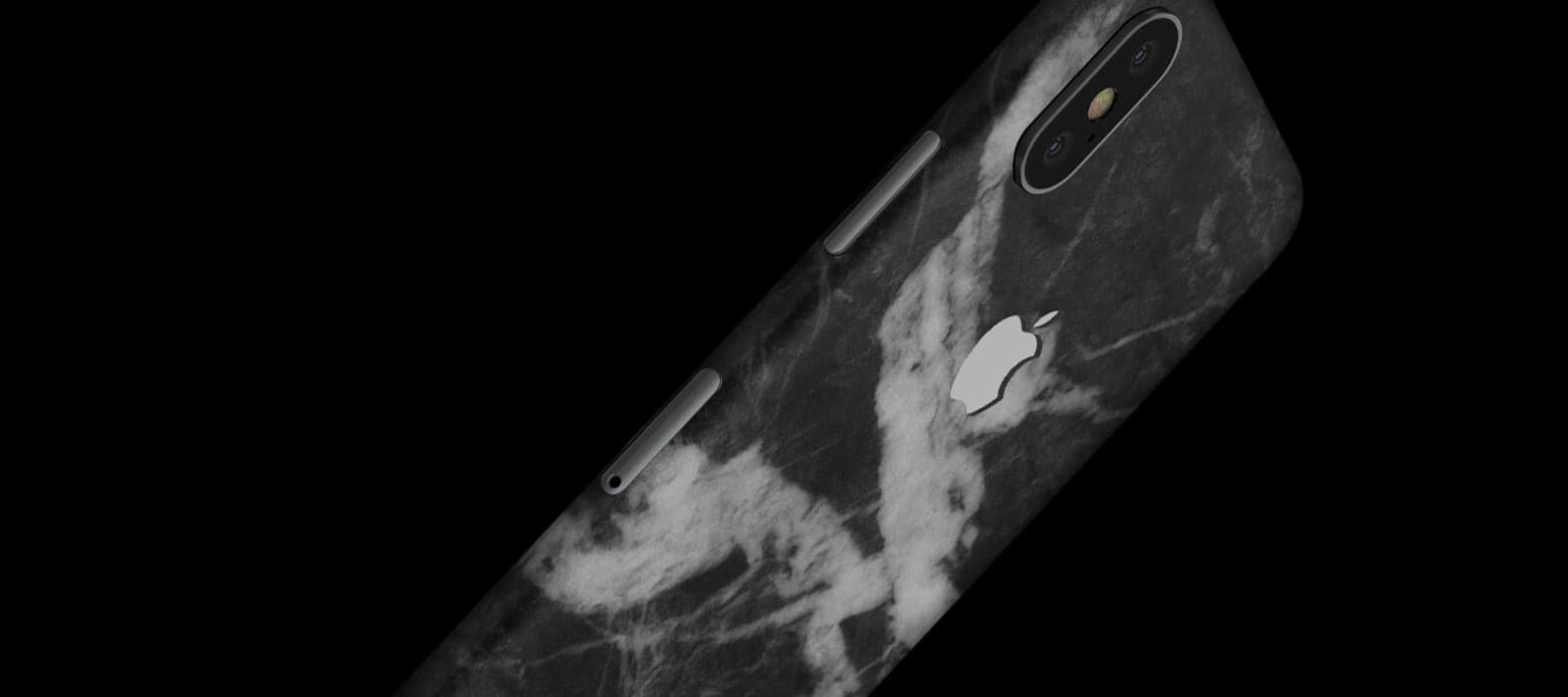 iPhone X Skins, Wraps & decals, Black Marble