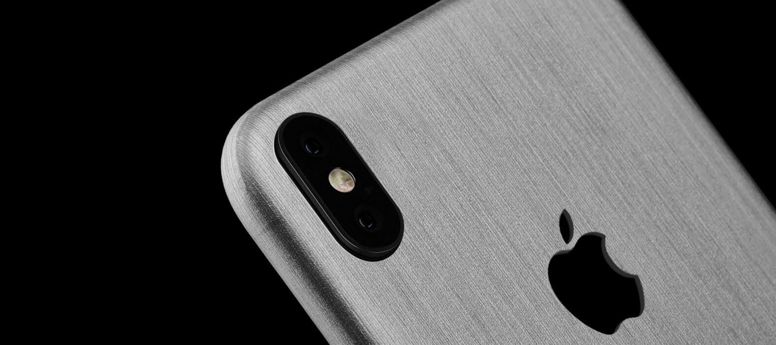 Brushed Titanium iPhone X Skins, Wraps & decals | Titanium