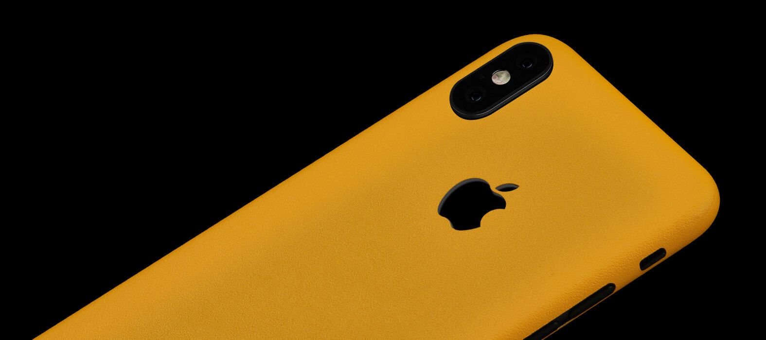 iPhone X Skins, Wraps & decals - Sandstone Yellow