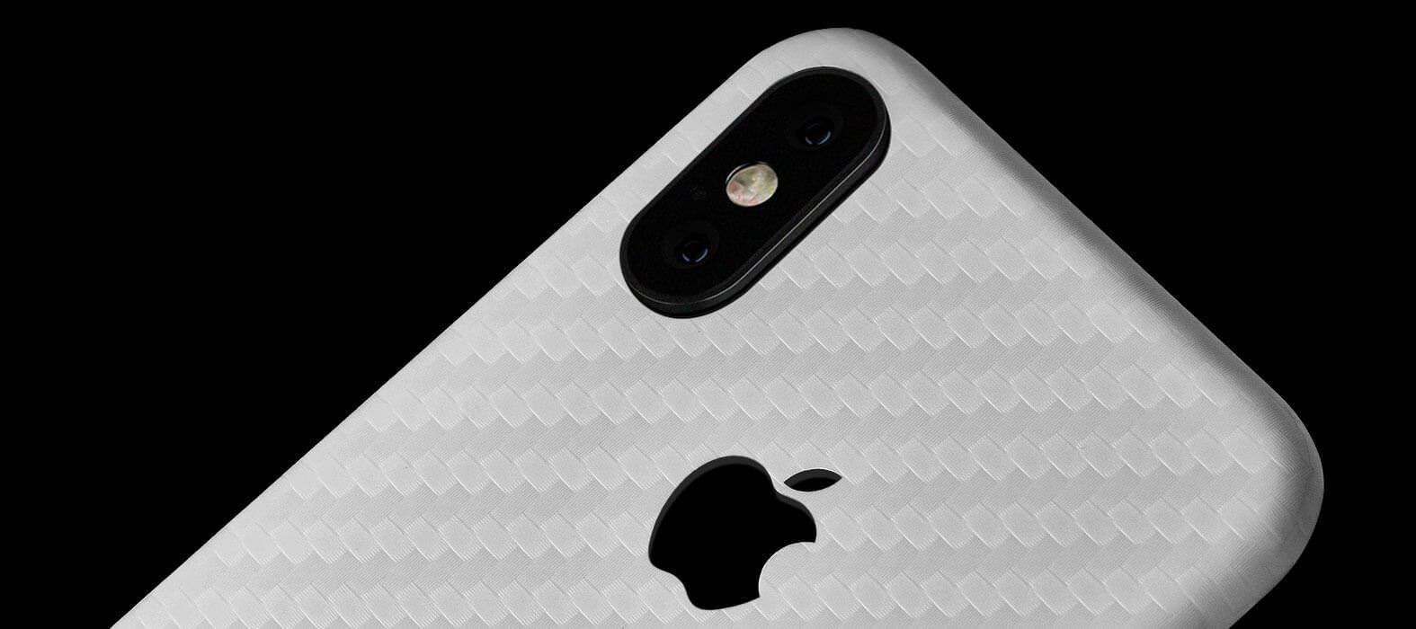 White Carbon iPhone X Skins, Wraps & decals