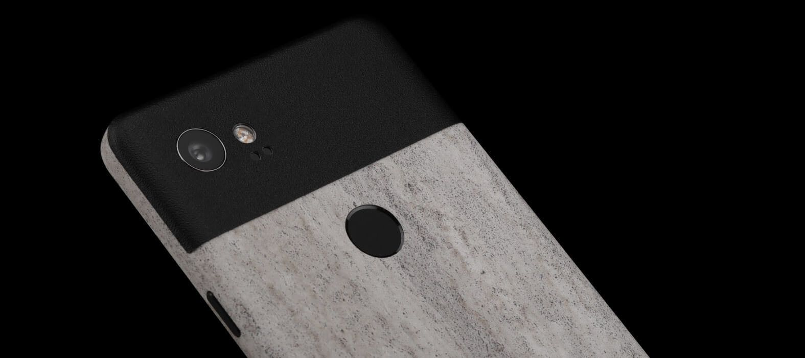 Pixel 2 XL Skins Concrete Split Wraps & Decals