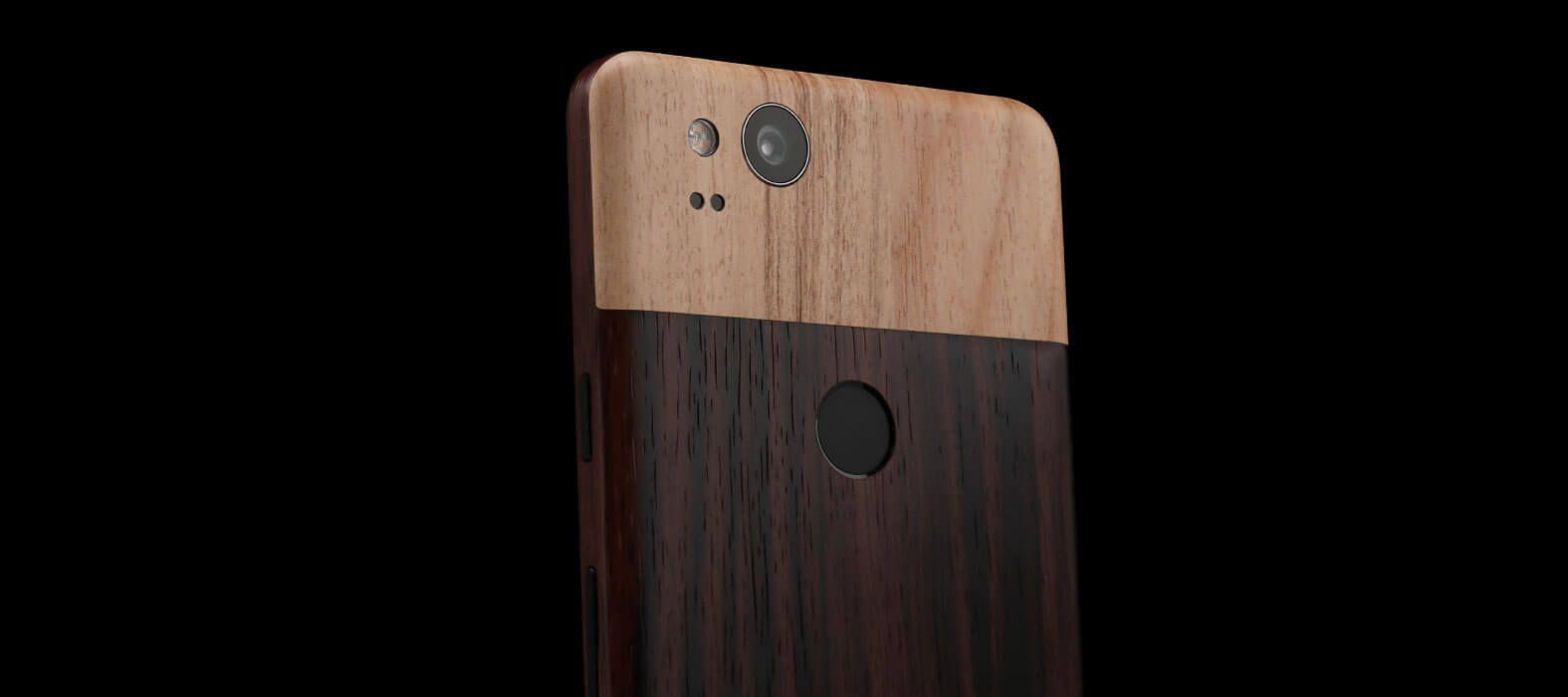 Pixel 2 Wraps, Skins, Ebony Wood