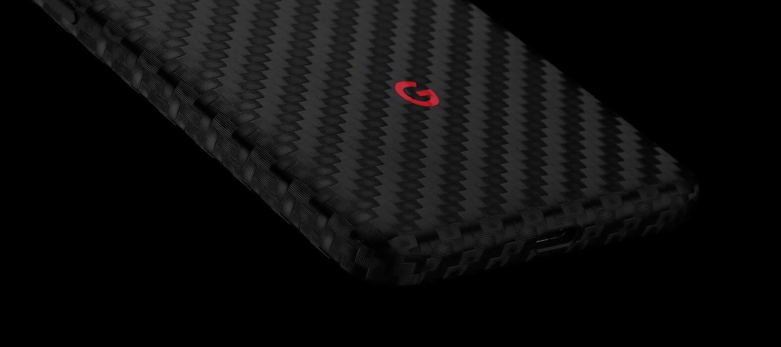 Pixel 2 Wraps, Skins, Decals, Black Carbon Fiber