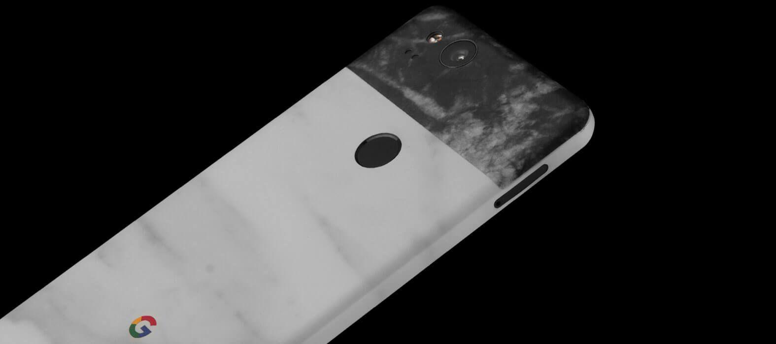 Pixel 2 Wraps, Skins, Decals - White Marble Split