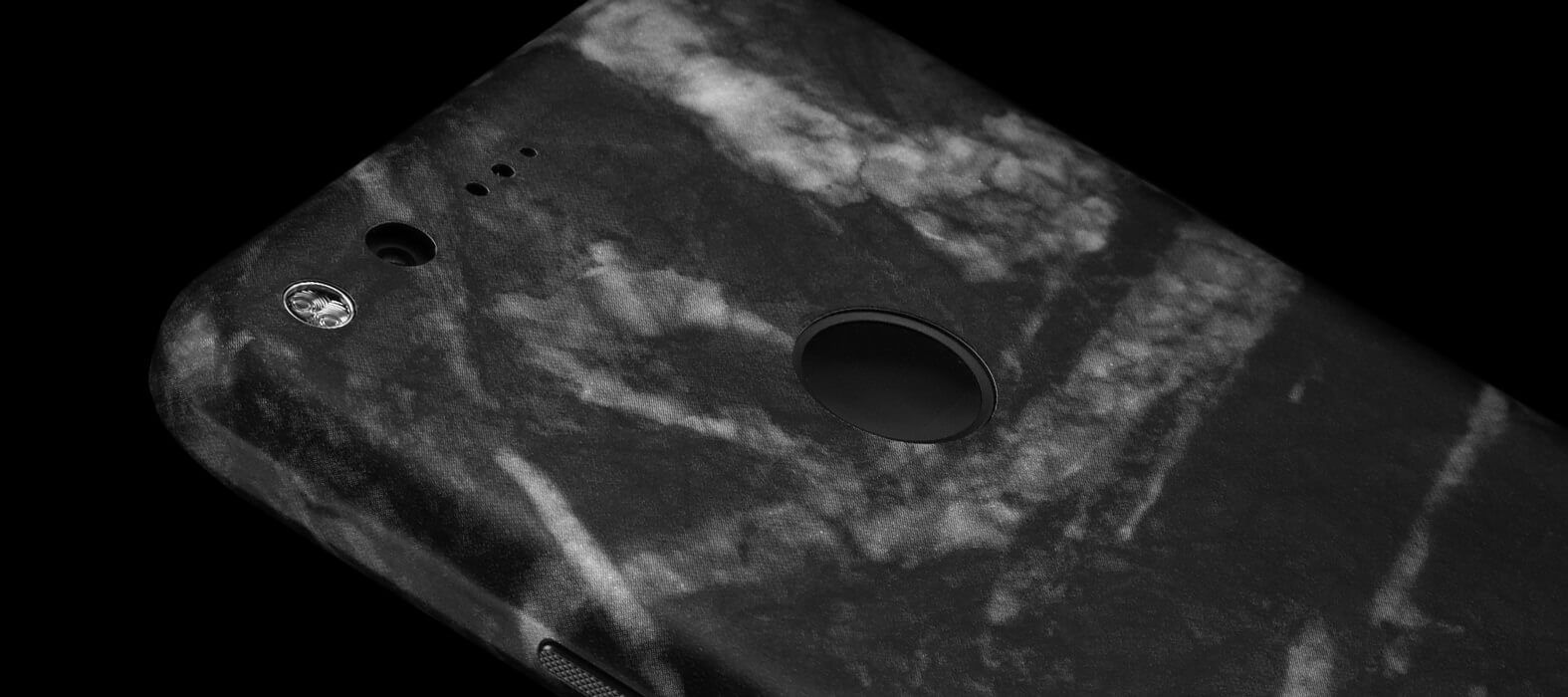 Pixel XL Wraps, Skins & Decals - Black Marble