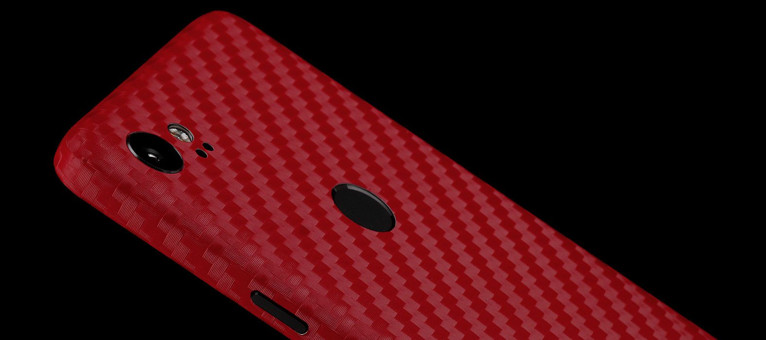 Pixel 2 XL Skins Red Carbon Fiber Wraps & Decals