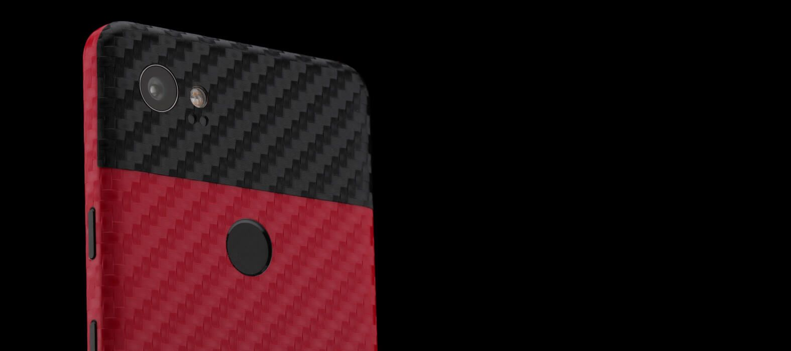 Pixel 2 XL Skins Red Carbon Wraps & Decals