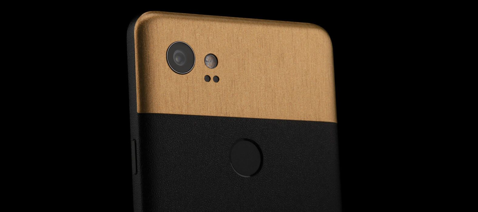 Pixel 2 XL Skins Sandstone Black Wraps & Decals