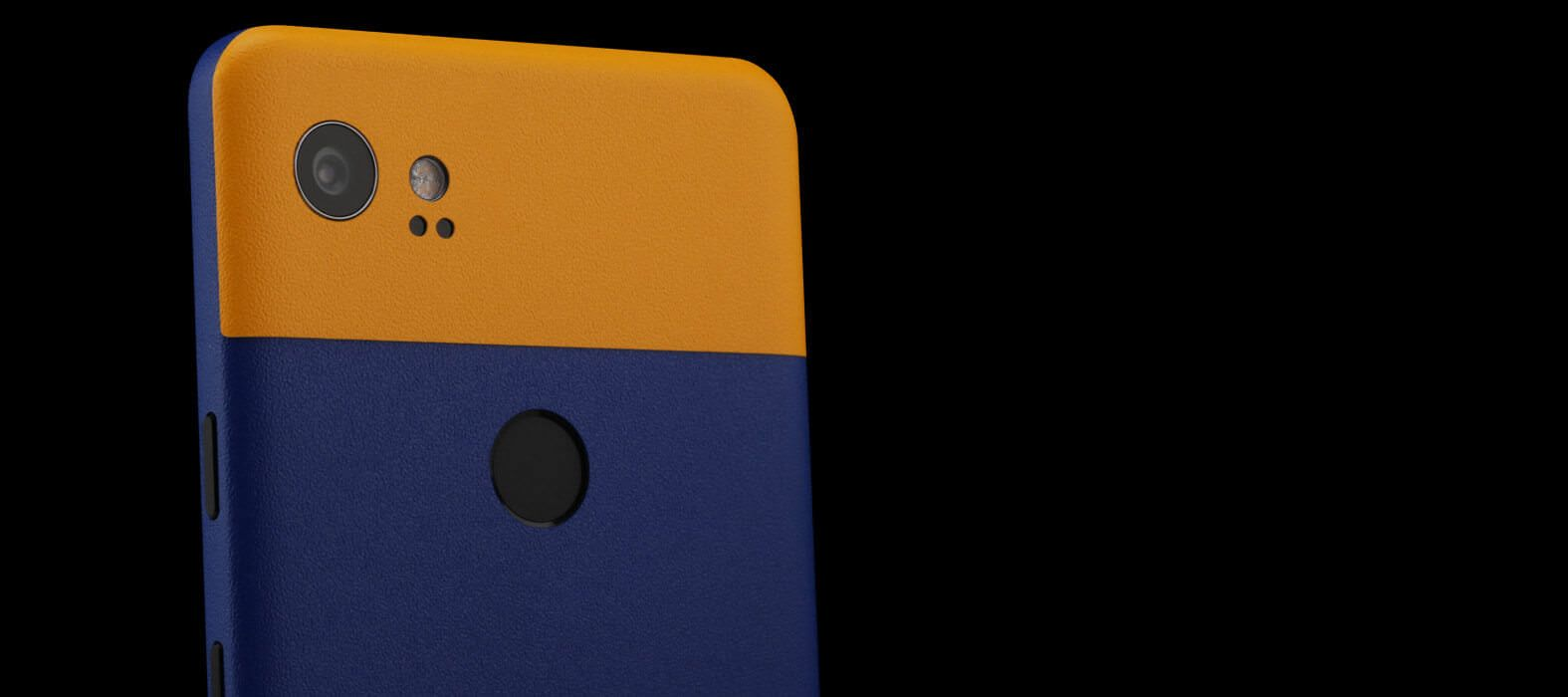 Pixel 2 XL Skins Sandstone Blue Split Wraps & Decals