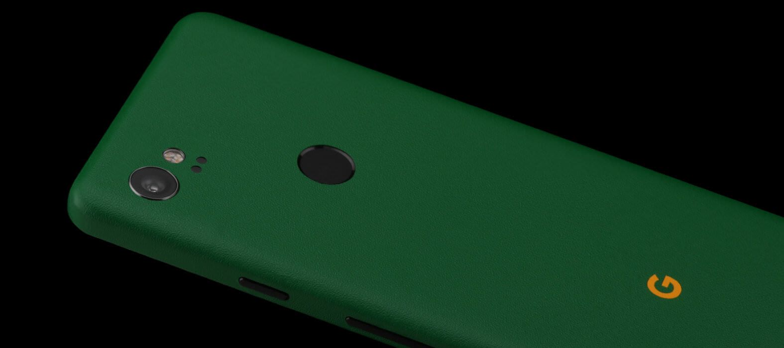 Pixel 2 XL Skins Sandstone Green Wraps & Decals