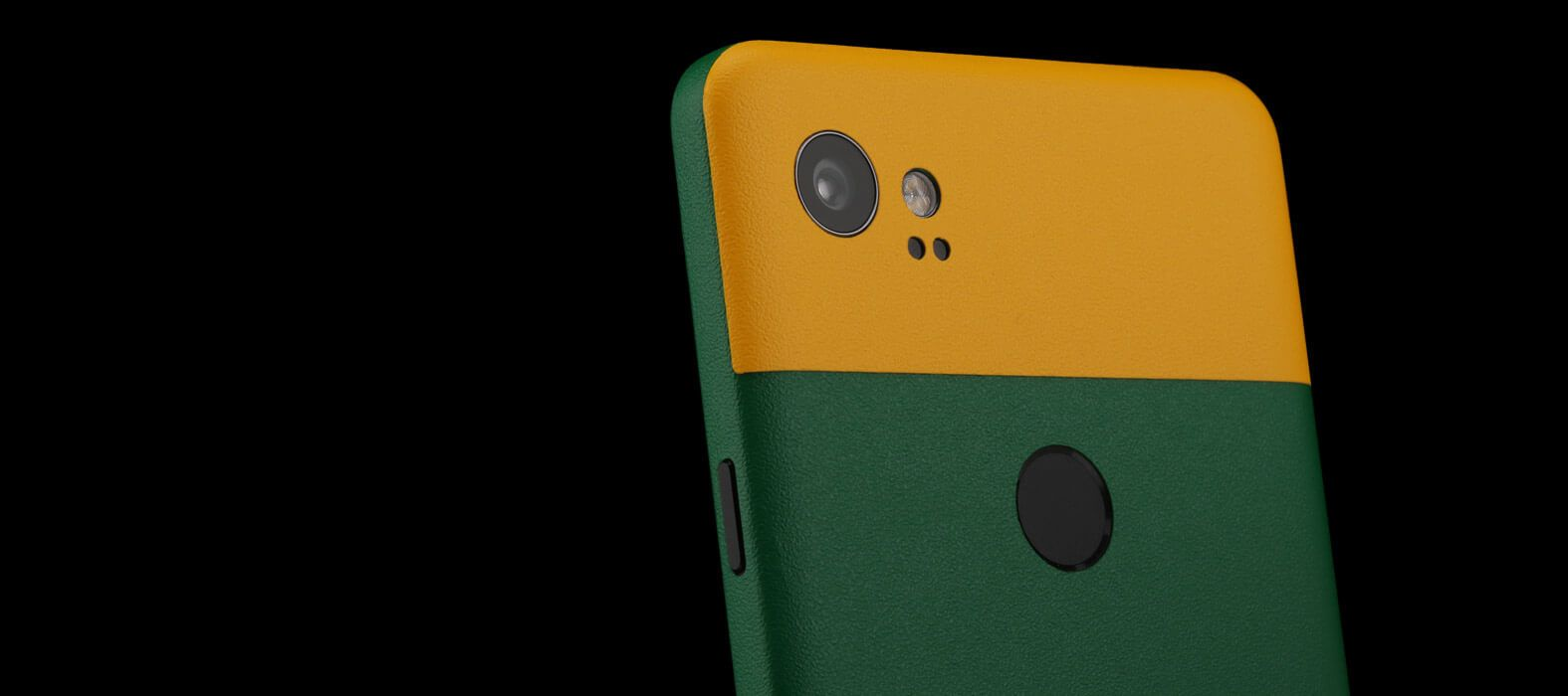 Pixel 2 XL Skins Sandstone Green Split Wraps & Decals