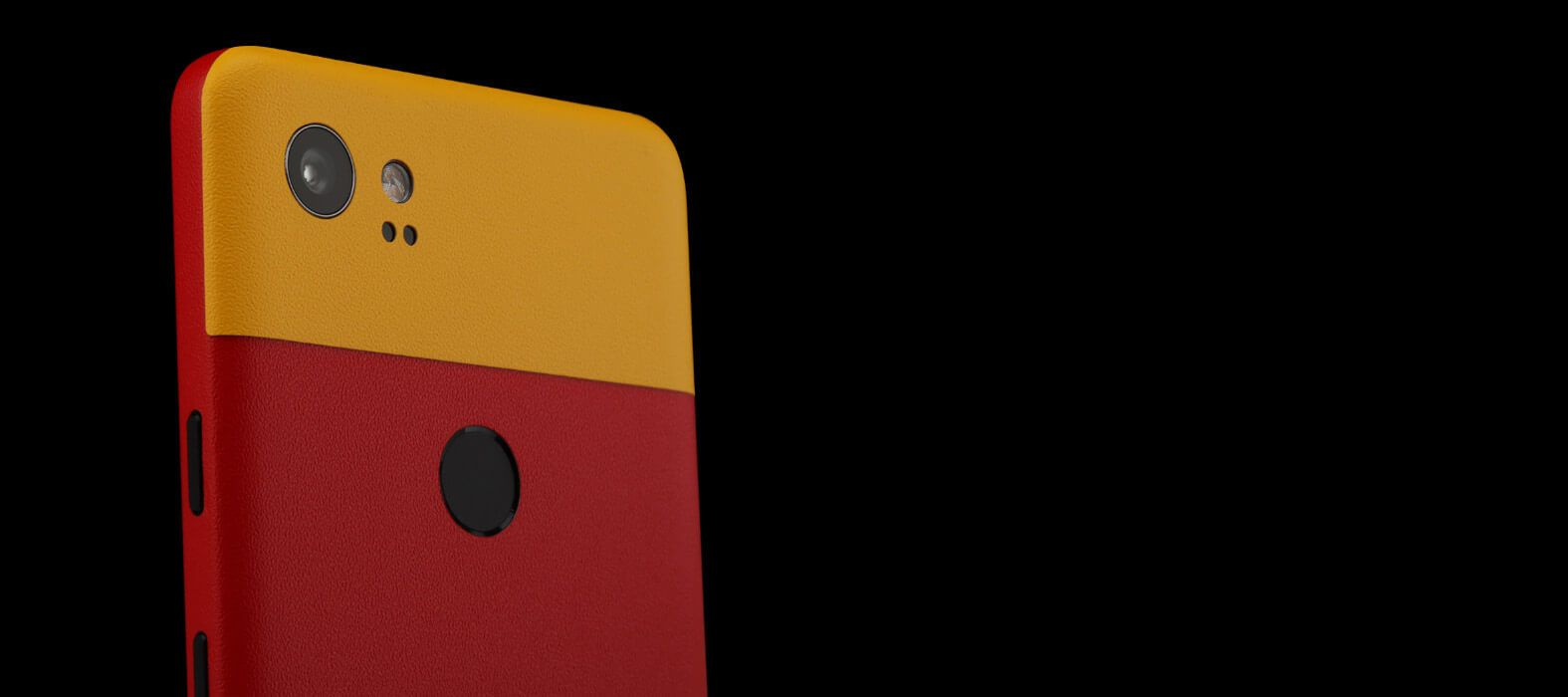 Pixel 2 XL Skins Sandstone Red Split Wraps & Decals