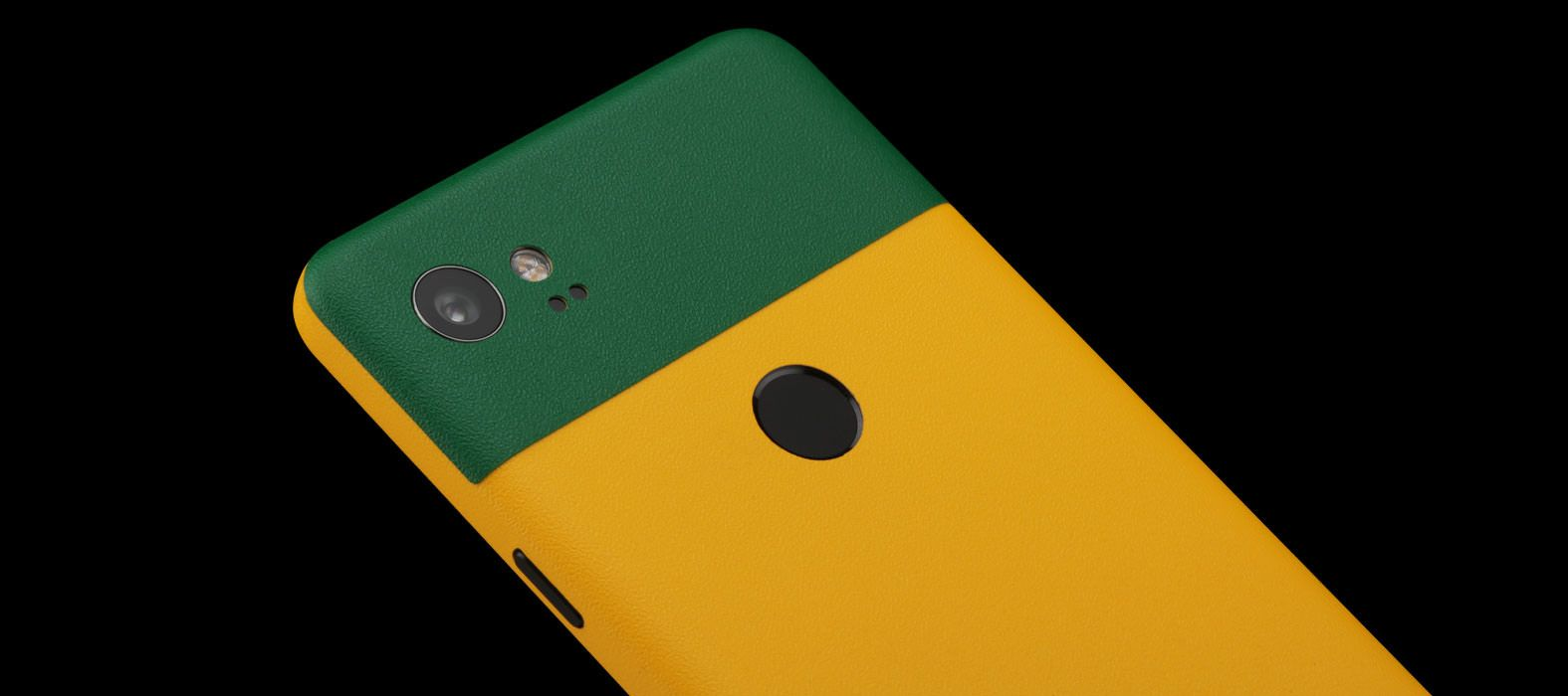 Pixel 2 XL Skins Sandstone Yellow Split Wraps & Decals