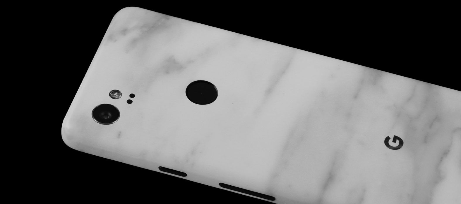 Pixel 2 XL Skins White Marble Split Wraps & Decals