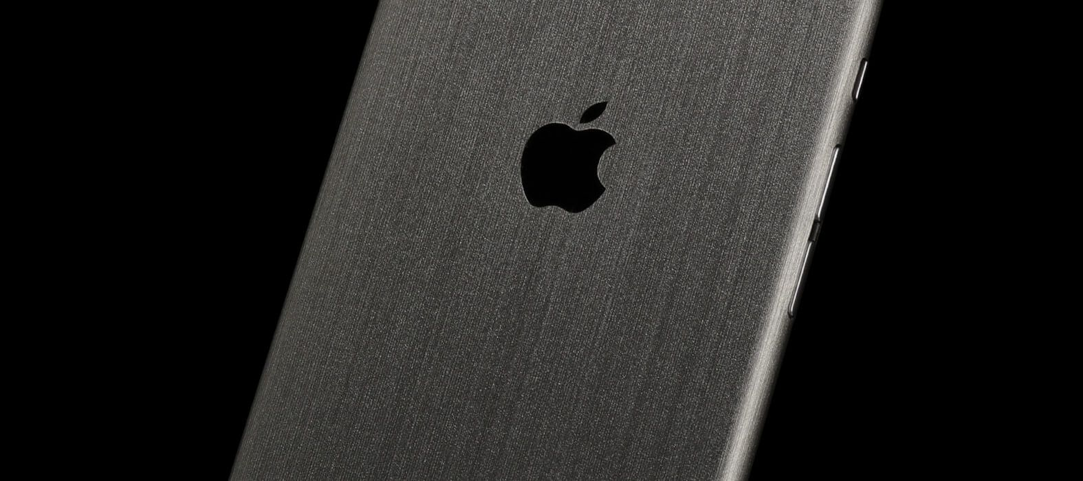 iPhone 6 Plus Skins, Wraps & decals - brushed titanium