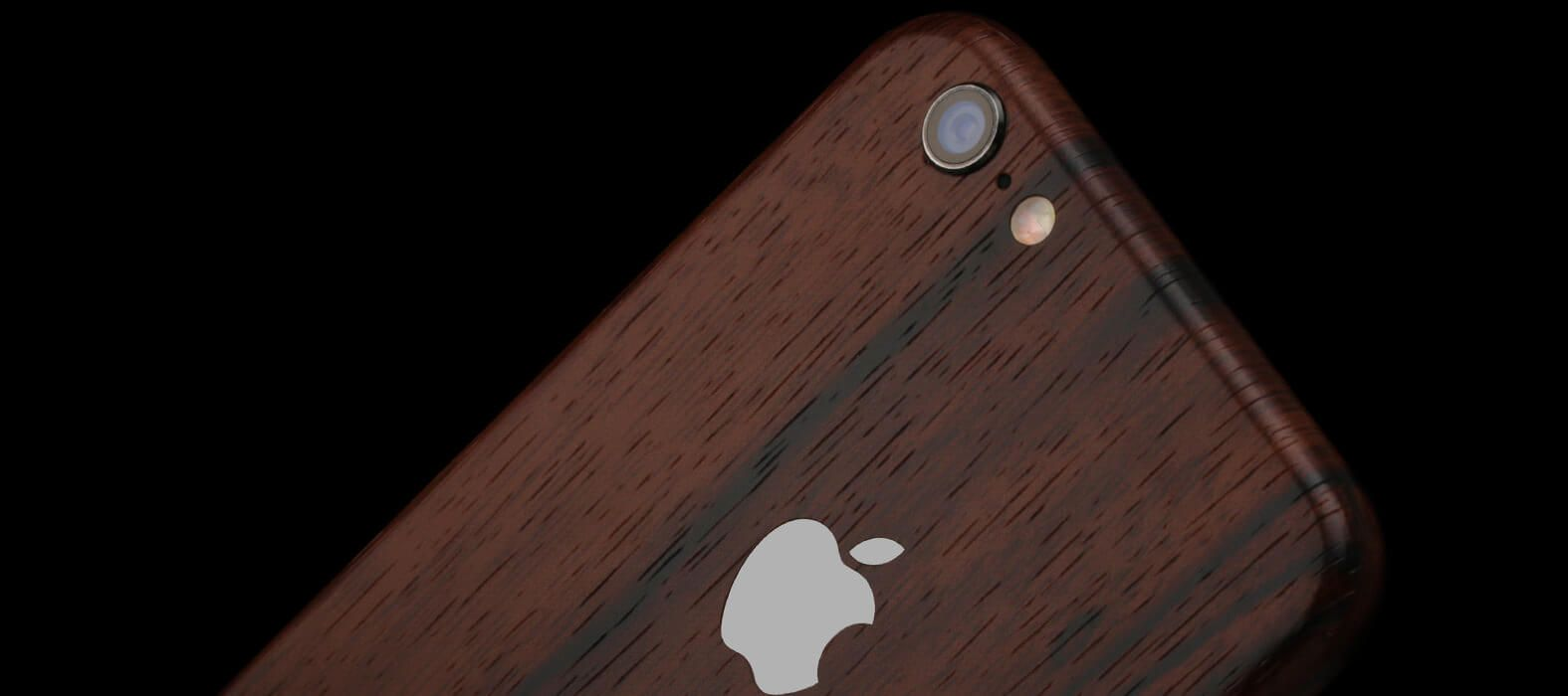 iPhone 6 Plus Skins, Wraps & decals - Ebony Wood