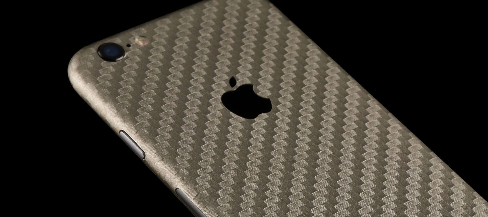iPhone 6 Plus Skins, Wraps & decals - Pewter Carbon