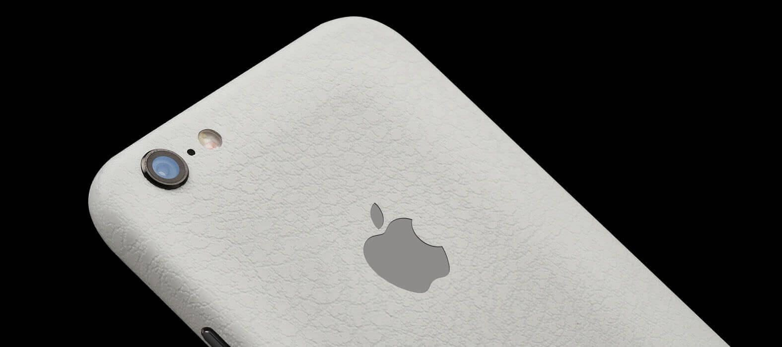 iPhone 6 Plus Skins, Wraps & decals - White Leather
