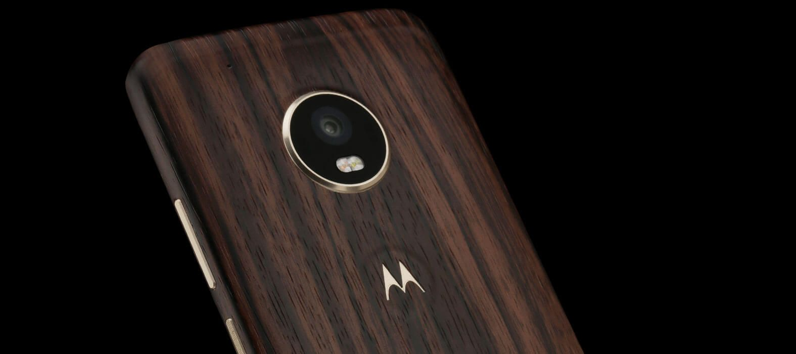Moto G5 Plus Ebony wood skins & wraps