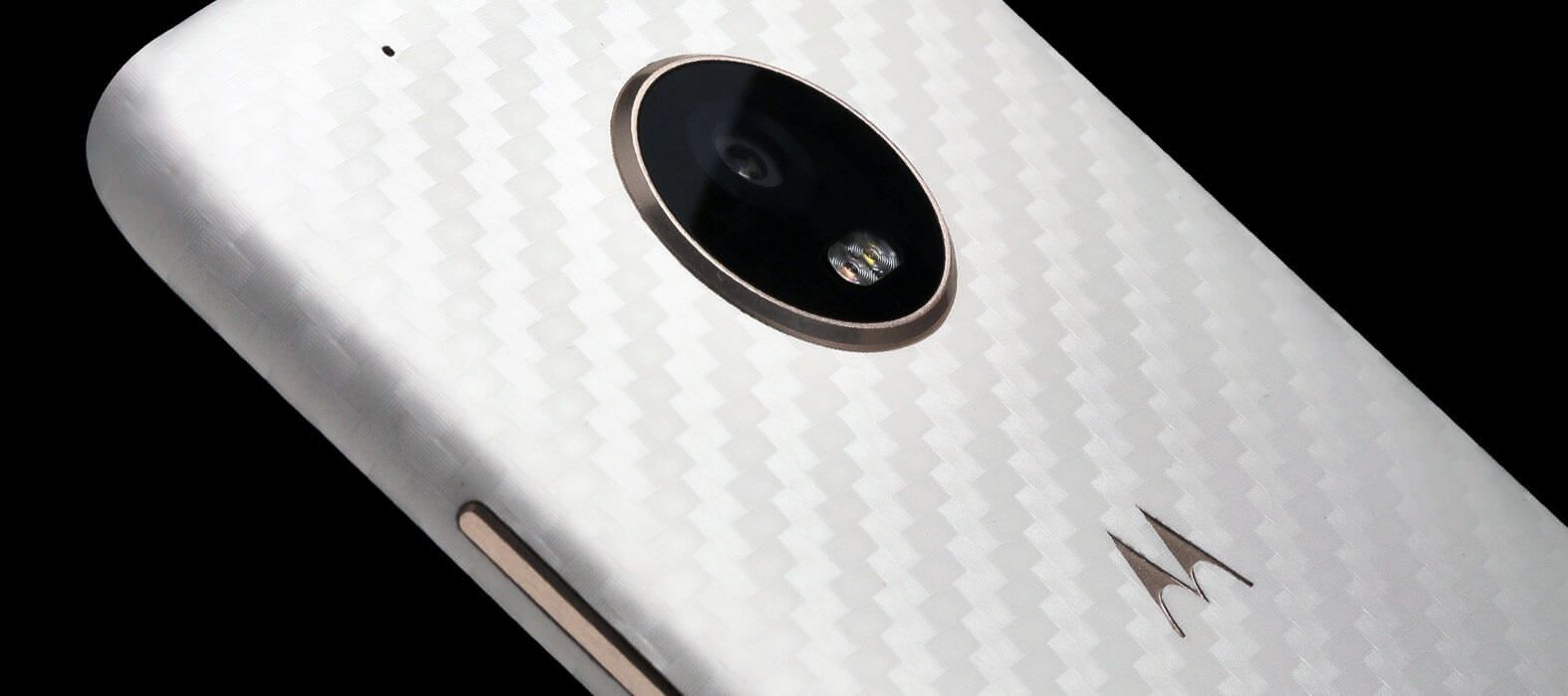 Moto G5 Plus white carbon fiber skins & wraps
