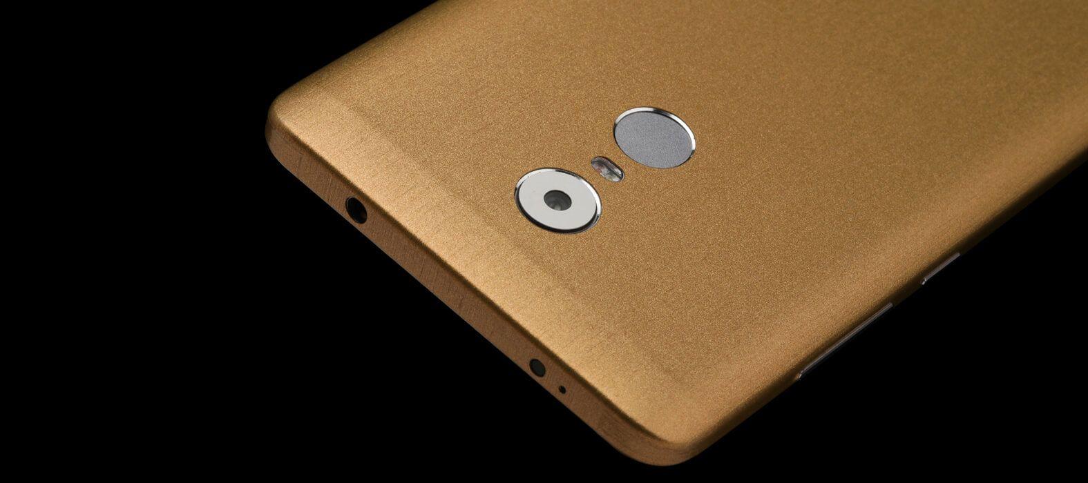 Brushed Gold Redmi Note 4 Wraps & Skins