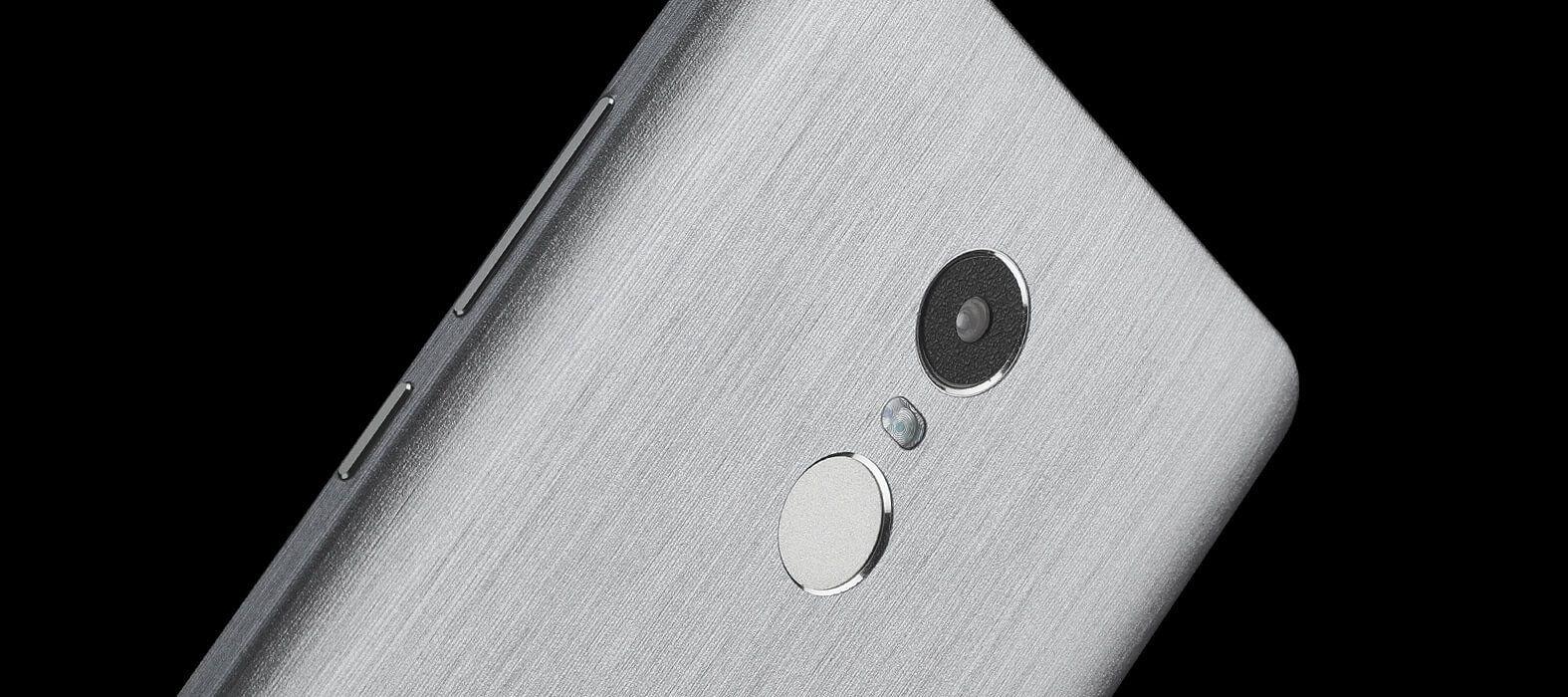 Brushed titanium Redmi Note 4 Wraps & Skins