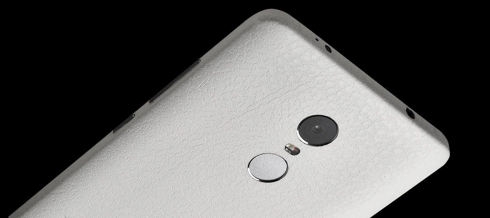 White Leather Redmi Note 4 Wraps & Skins