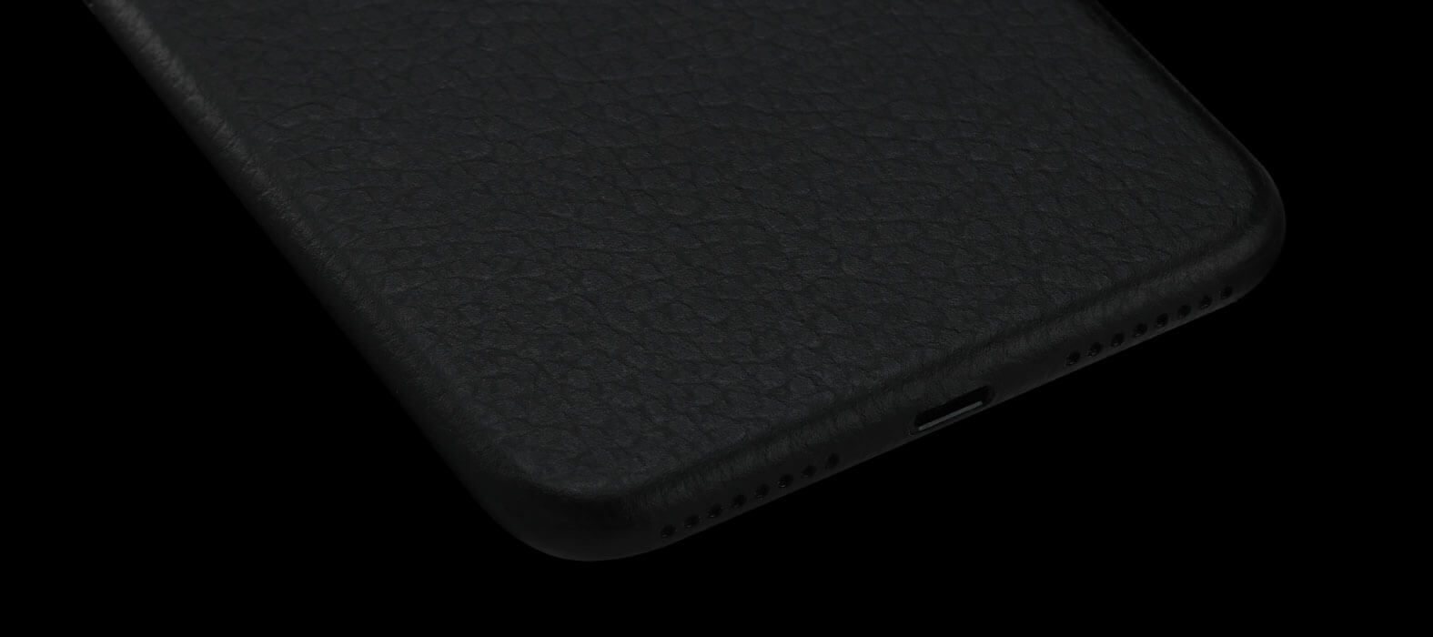 Black leather iPhone 7 Plus Skins & Wraps
