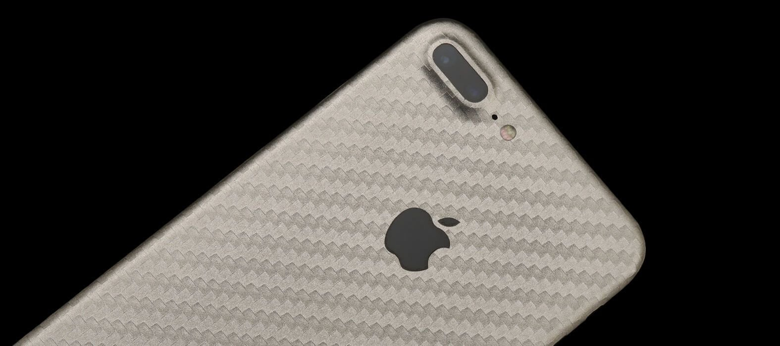 iPhone 7 Plus Pewter Carbon Fiber Skins & Wraps