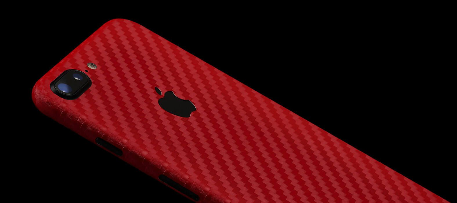 iPhone 7 Plus red Carbon Fiber Skins & Wraps