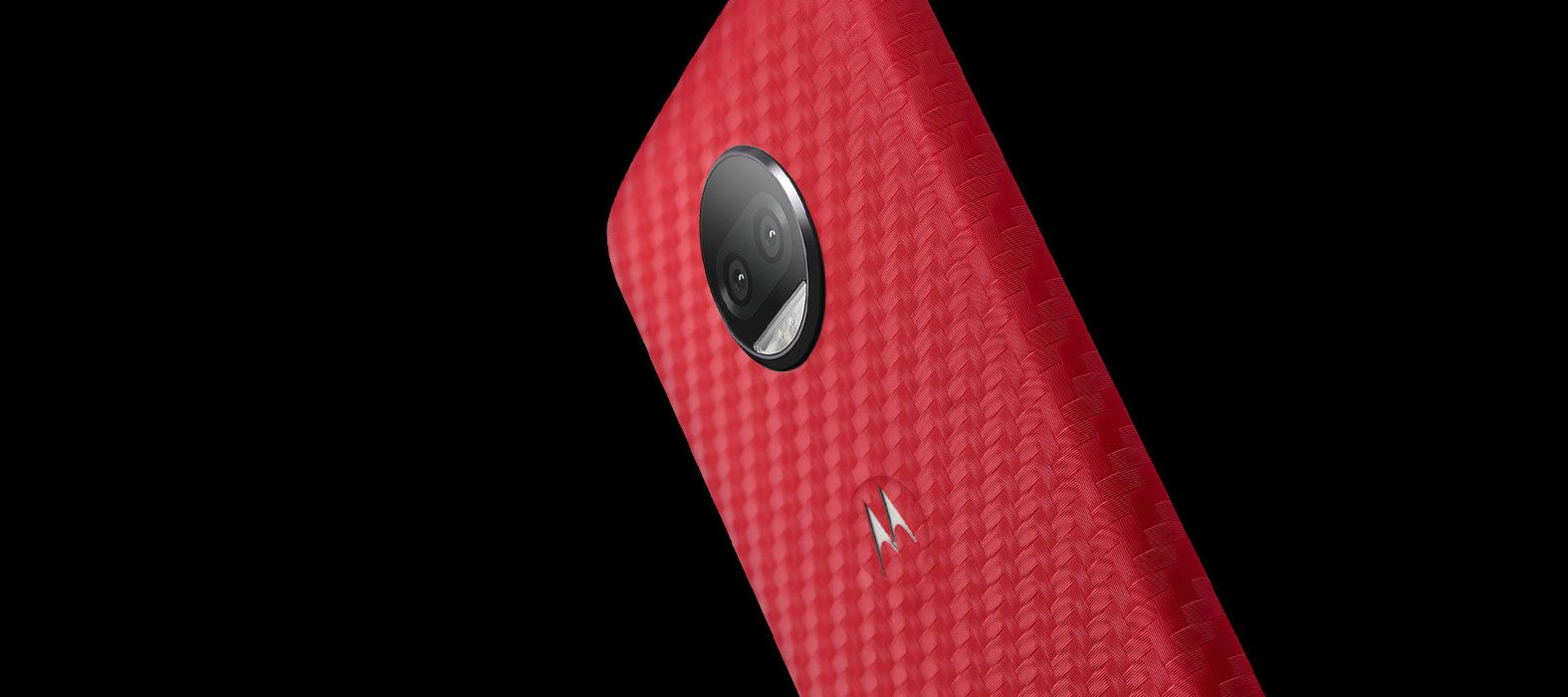 Moto G5S Plus Wraps, Skins & Decals | Red Carbon Fiber Skins