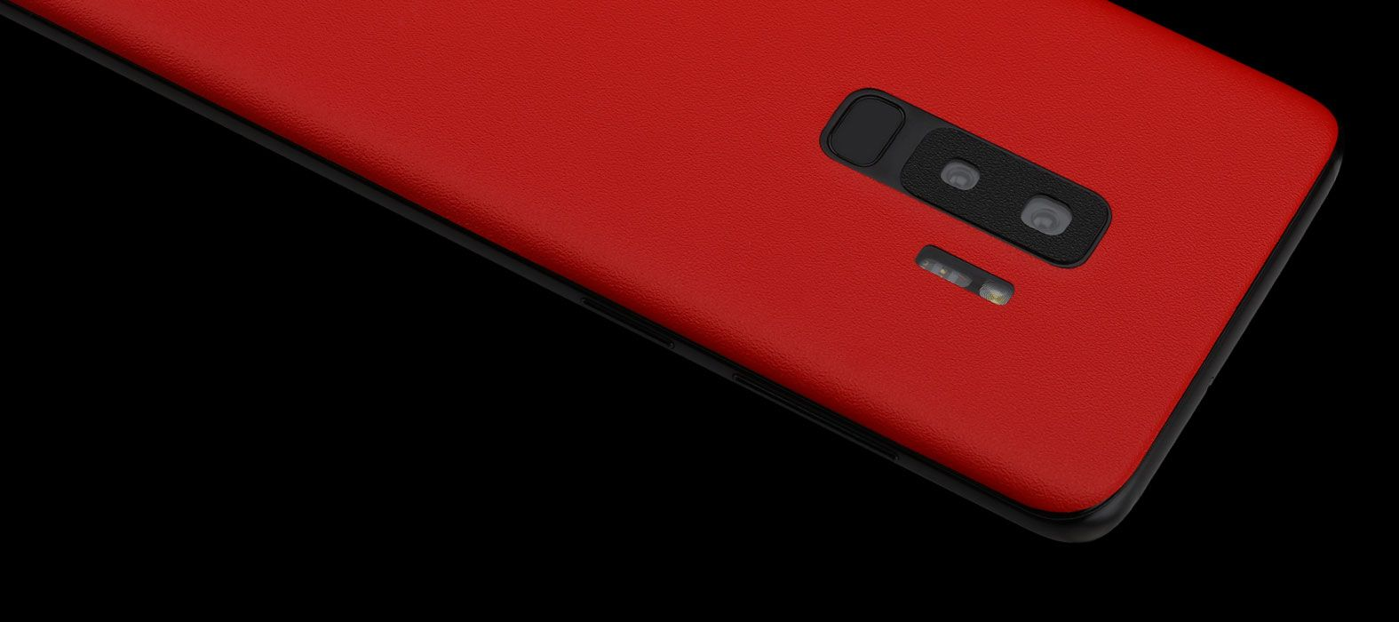 Galaxy S9 Plus Skins, Wraps - Sandstone Red