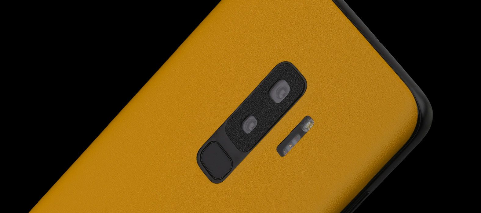 Galaxy S9 Plus Skins, Wraps - Sandstone Yellow