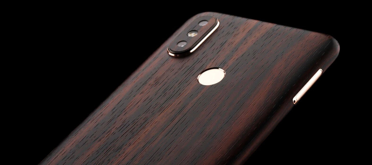 Xiaomi Mi A2 Ebony Wood Skin