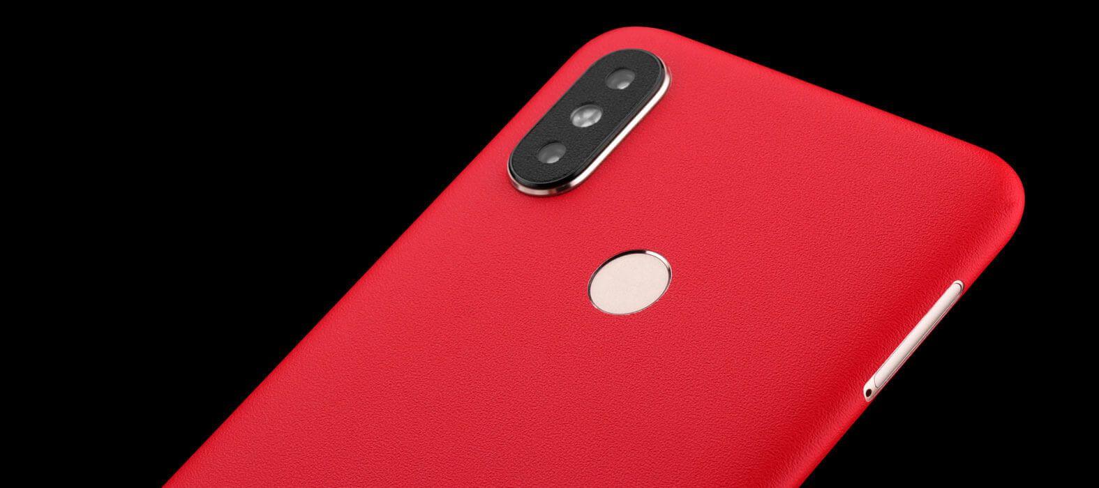 Xiaomi Mi A2 Red Sandstone Skin