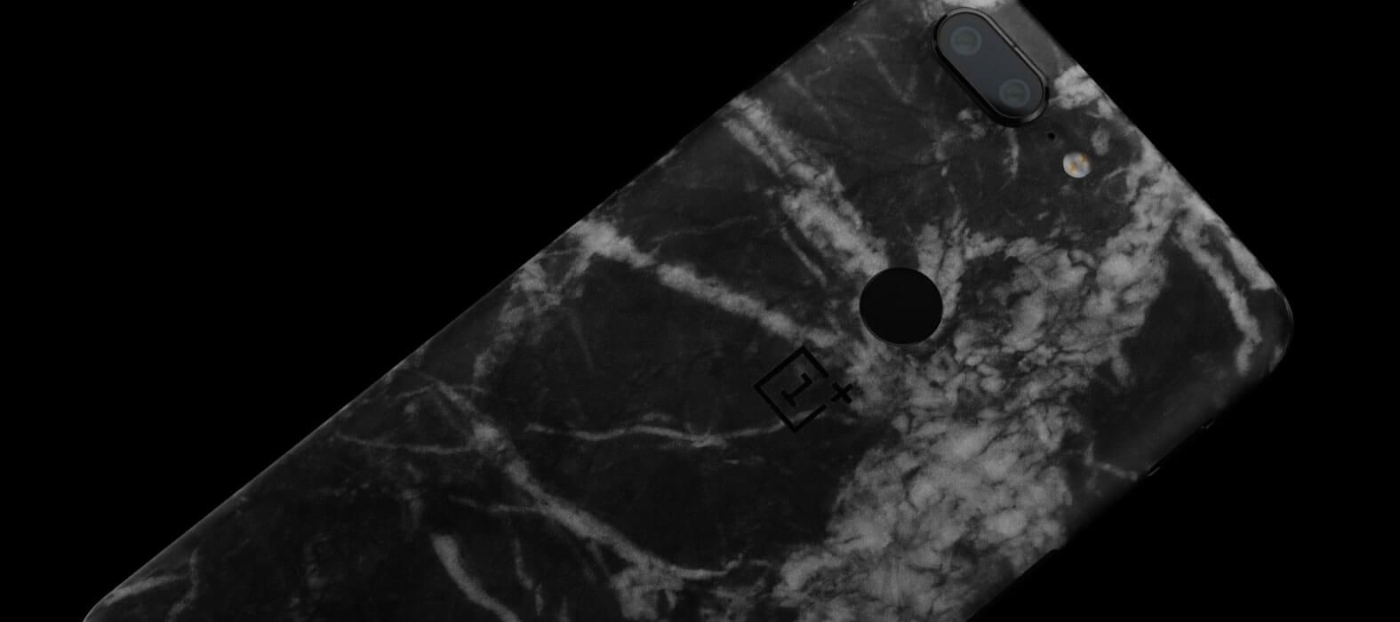 OnePlus 5T Skins, Decals, Wraps - Black Marble