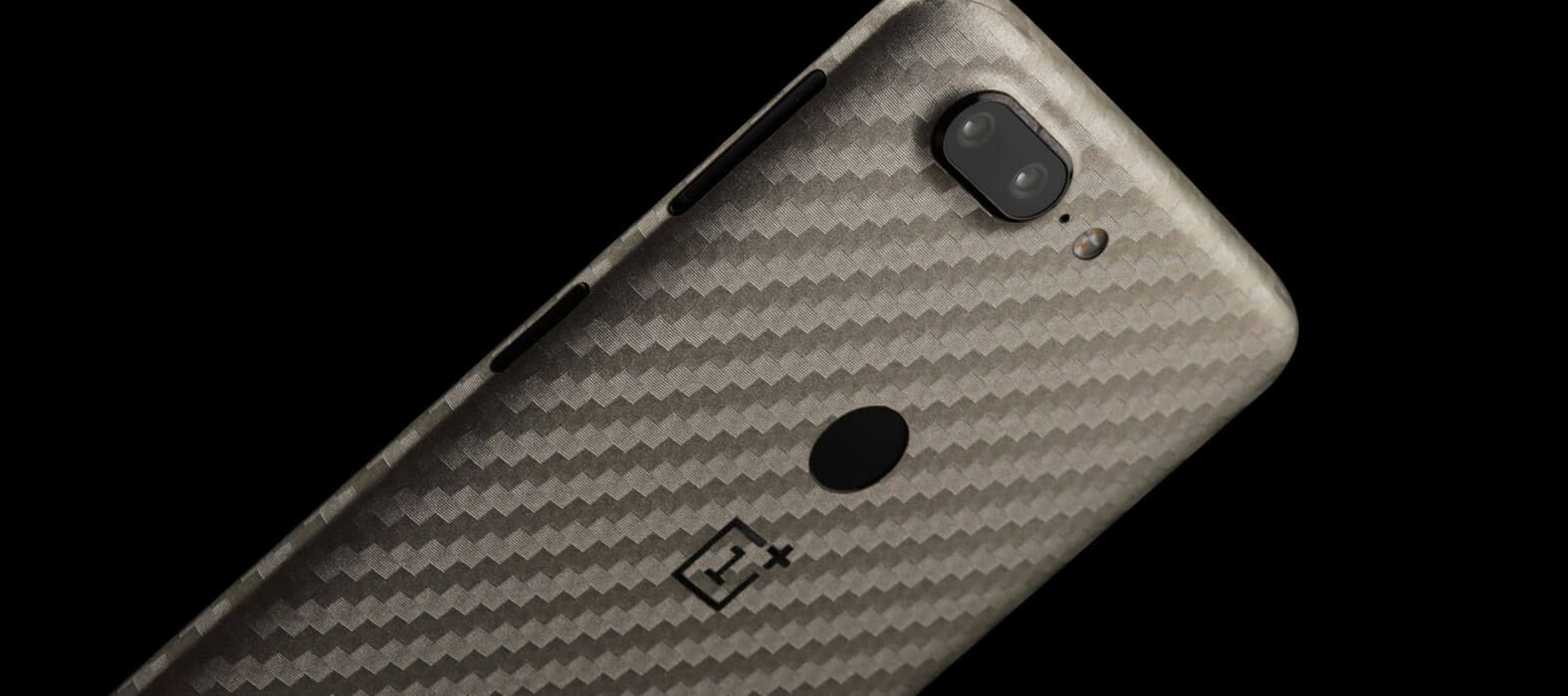 OnePlus 5T Skins, Decals, Wraps - Pewter Carbon fiber