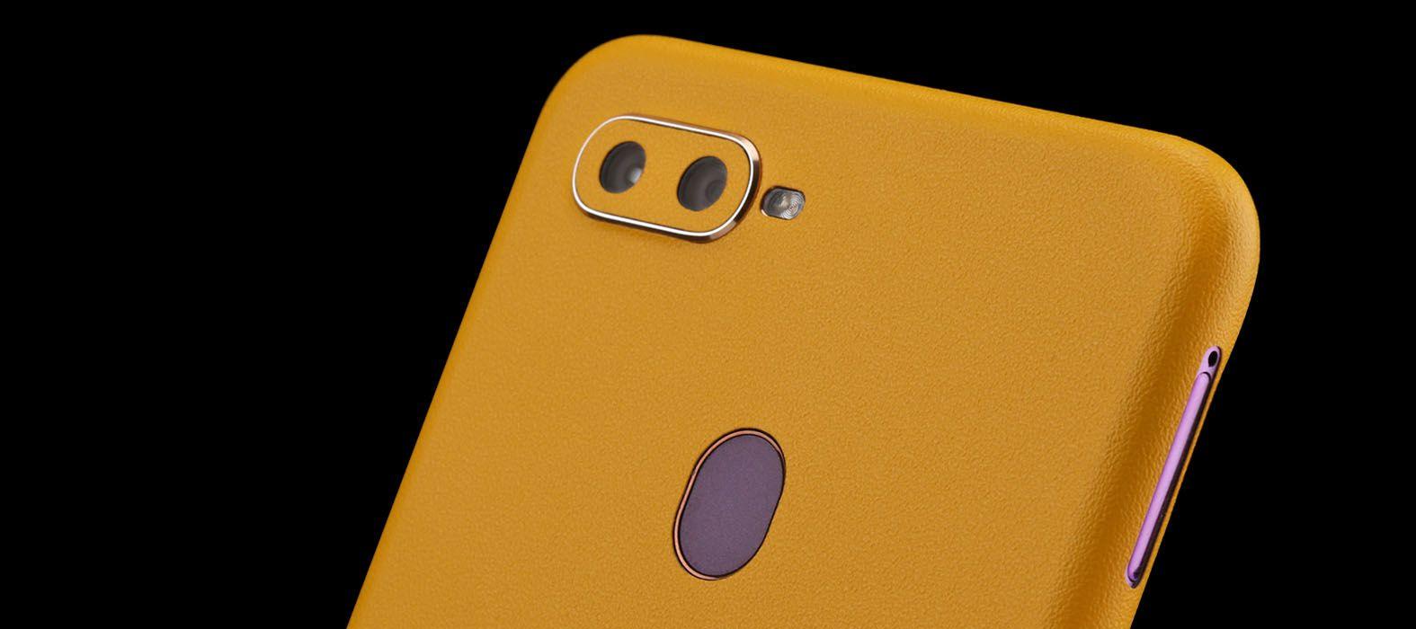 Oppo F9 Pro Sandstone Yellow Skins