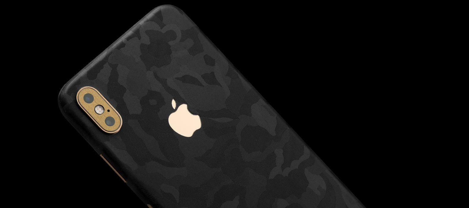 iPhone XS Max Black Camo Skins