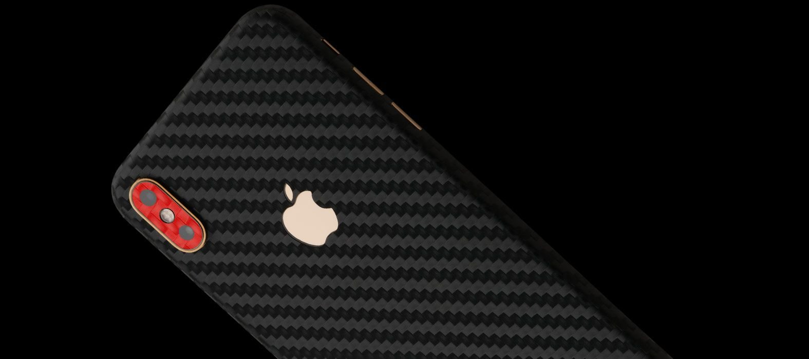 iPhone XS Max Black Carbon Fiber Skins