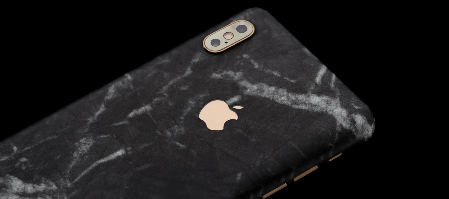 iPhone XS Max Black Leather Skins