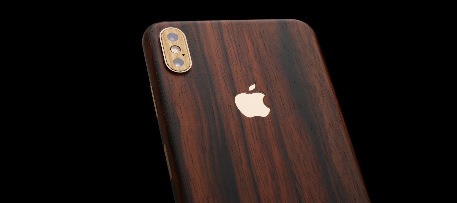 iPhone XS Max Ebony Wood Skins