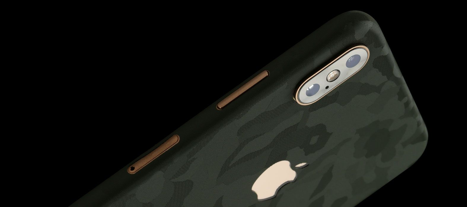 iPhone XS Max Green Camo Skins