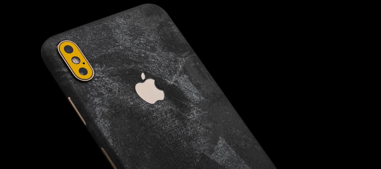 iPhone XS Max Black Grunge Skins
