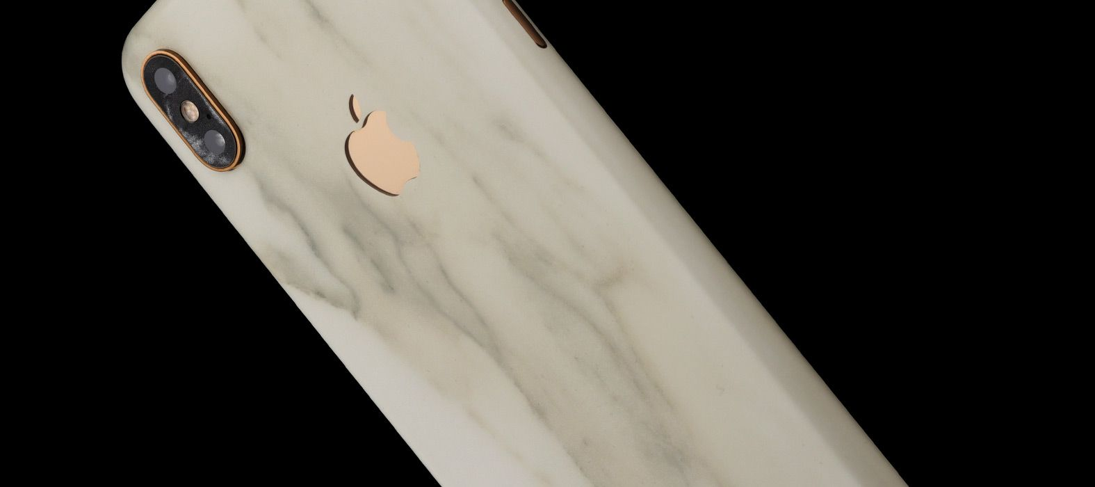 iPhone XS Max White Marble Skins