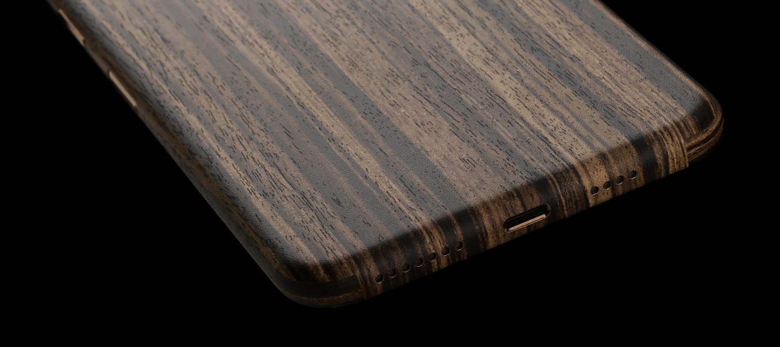 iPhone XS Max Zebra Wood Skins