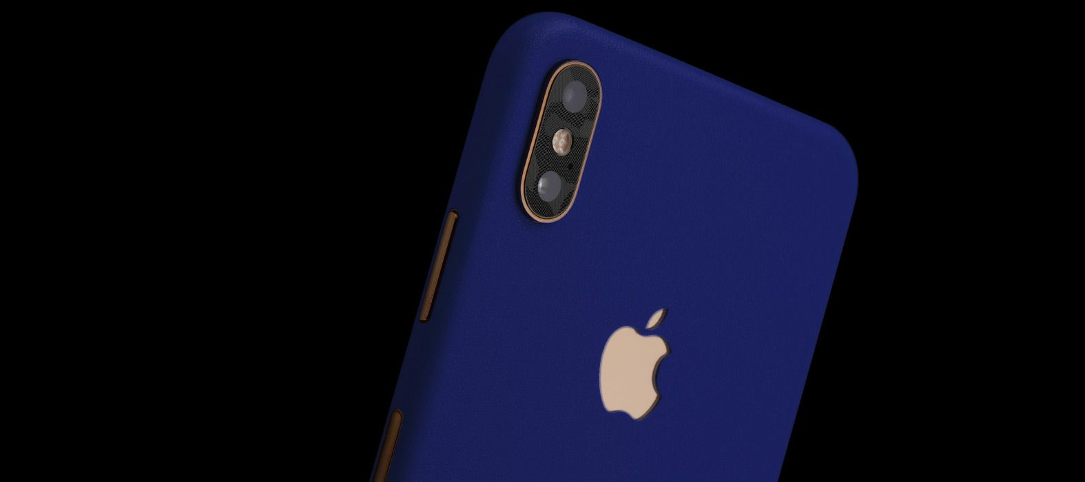 iPhone XS Blue Sandstone Skins